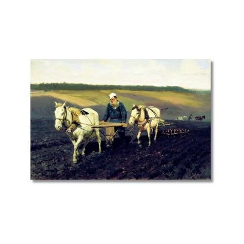Tictac Leo Tolstoy Kanvas Tablo - 40X60 Cm