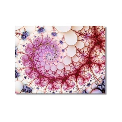 Tictac Kırmızı Şekiller Kanvas Tablo - 50X75 Cm
