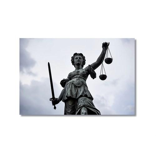 Tictac Adalet Heykeli Kanvas Tablo - 50X75 Cm
