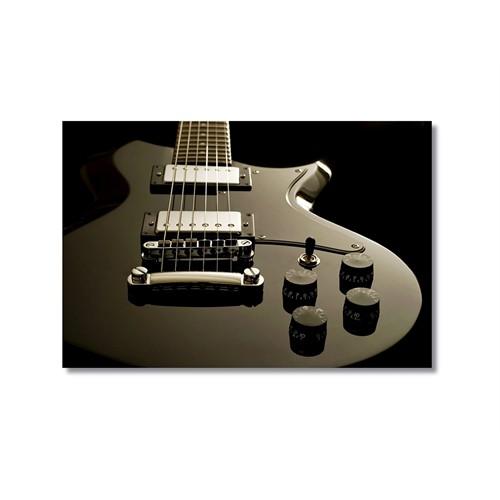 Tictac Gri Gitar Kanvas Tablo - 60X90 Cm