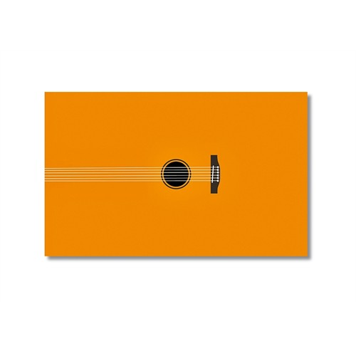 Tictac Sarı Gitar Kanvas Tablo - 50X75 Cm