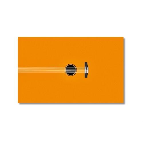 Tictac Sarı Gitar Kanvas Tablo - 60X90 Cm