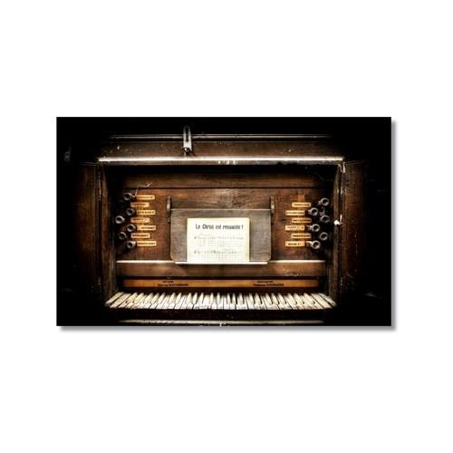 Tictac Eski Piano Kanvas Tablo - 40X60 Cm