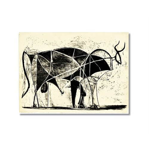 Tictac Picasso Boğa Kanvas Tablo - 50X75 Cm