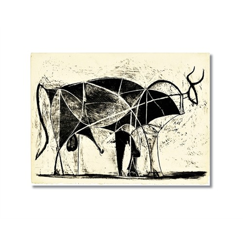 Tictac Picasso Boğa Kanvas Tablo - 40X60 Cm
