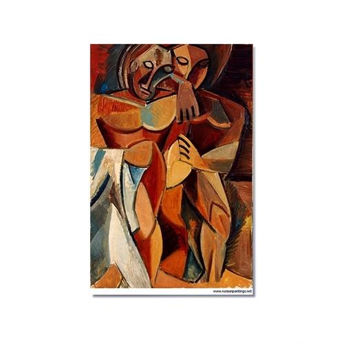 Tictac Picasso 9 Kanvas Tablo - 60X90 Cm