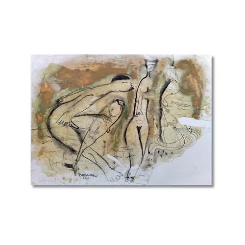Tictac Dekoratif 6 Kanvas Tablo - 60X90 Cm
