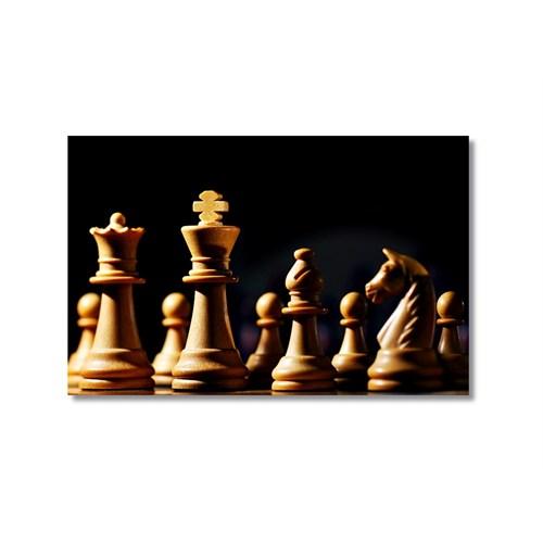 Tictac Satranç Taşları 6 Kanvas Tablo - 60X90 Cm