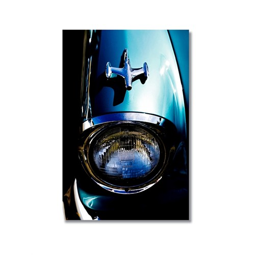Tictac Mavi Chevrolet Kanvas Tablo - 60X90 Cm