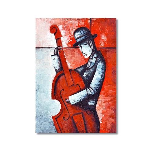 Tictac Dekoratif Müzik Serisi - Kontrbas Kanvas Tablo - 40X60 Cm