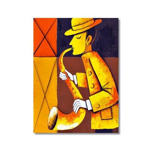 Tictac Dekoratif Müzik Serisi - Saksafon Kanvas Tablo - 40X60 Cm