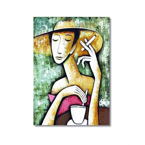Tictac Kahve Kanvas Tablo - 60X90 Cm