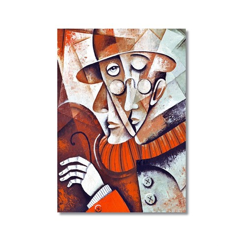 Tictac Dekoratif Müzik Serisi - Keman Kanvas Tablo - 60X90 Cm