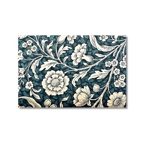Tictac Beyaz Çiçekler Kanvas Tablo - 40X60 Cm