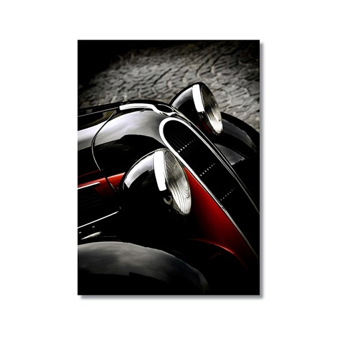 Tictac Eski Araba 3 Kanvas Tablo - 50X75 Cm