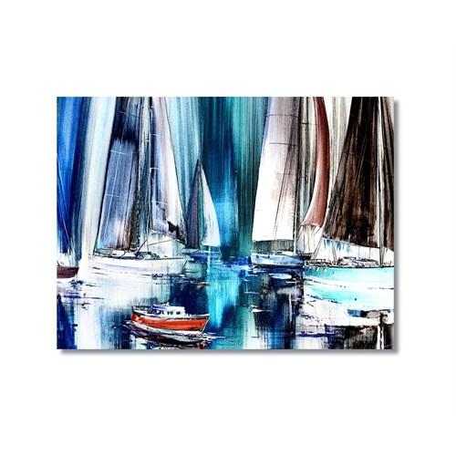 Tictac Yelkenliler Kanvas Tablo - 50X75 Cm