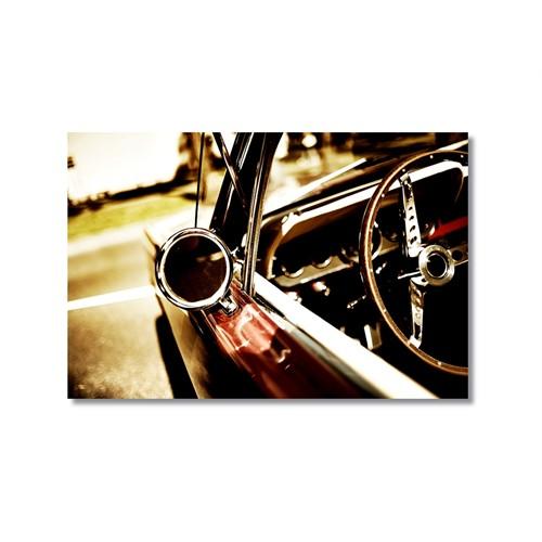 Tictac Eski Araba Kanvas Tablo - 60X90 Cm