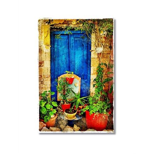 Tictac Çiçekli Sokak 2 Kanvas Tablo - 40X60 Cm