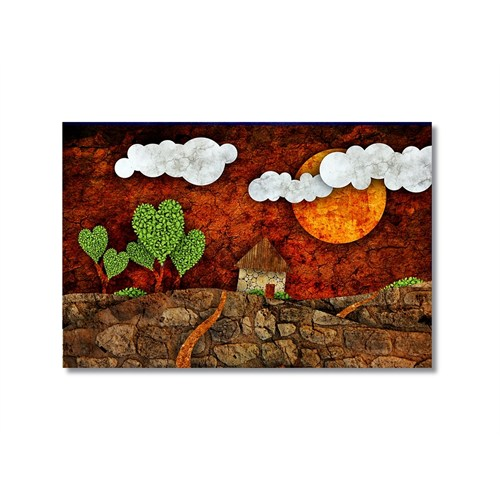 Tictac Dekoratif 10 Kanvas Tablo - 50X75 Cm