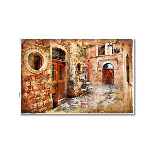 Tictac Eski Sokak Kanvas Tablo - 40X60 Cm