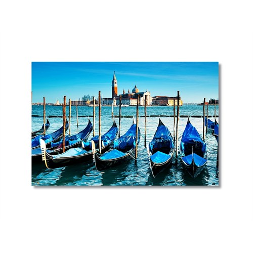 Tictac Venedik Gondolları 2 Kanvas Tablo - 40X60 Cm
