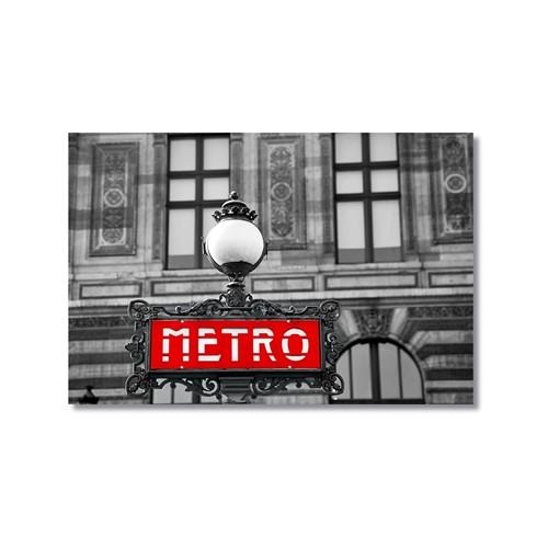 Tictac Metro Kanvas Tablo - 40X60 Cm