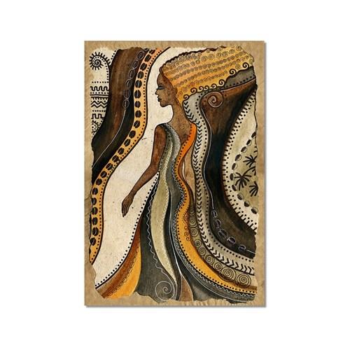 Tictac Dekoratif Kadın 3 Kanvas Tablo - 60X90 Cm