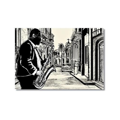 Tictac Jazz 3 Kanvas Tablo - 40X60 Cm