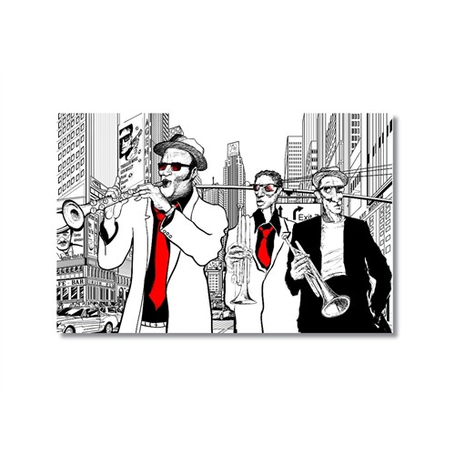 Tictac Jazz 4 Kanvas Tablo - 50X75 Cm