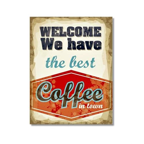 Tictac Coffee 4 Kanvas Tablo - 40X60 Cm