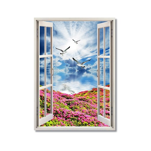 Tictac Pencere Ve Doğa 2 Kanvas Tablo - 60X90 Cm