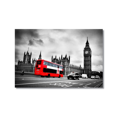Tictac Londra Ve Bigben Kanvas Tablo - 40X60 Cm