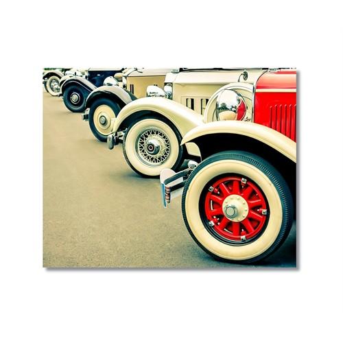 Tictac Antika Arabalar 2 Kanvas Tablo - 40X60 Cm