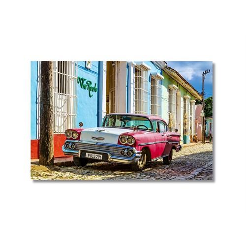 Tictac Küba Arabaları Kanvas Tablo - 40X60 Cm