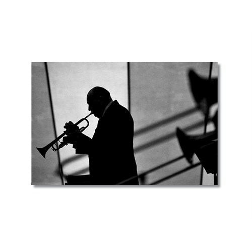 Tictac Trompet Kanvas Tablo - 50X75 Cm