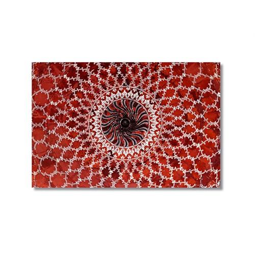 Tictac Kırmızı Çatı Kanvas Tablo - 60X90 Cm