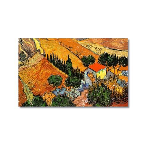 Tictac Van Gogh Köy Evi Kanvas Tablo - 50X75 Cm