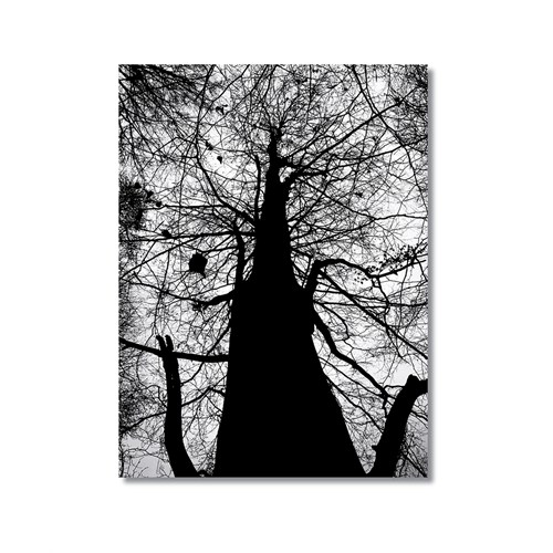 Tictac Uzun Ağaç Kanvas Tablo - 50X75 Cm