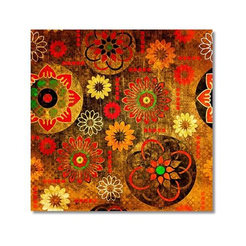 Tictac Renkli Semboller Kanvas Tablo - 60X60 Cm