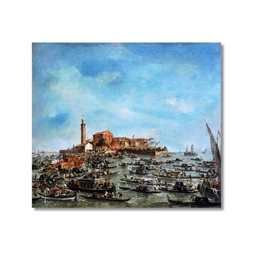 Tictac Venedik 4 Kanvas Tablo - 60X60 Cm