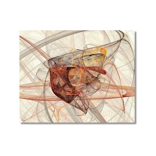 Tictac Soyut Şekiller Kanvas Tablo - 50X50 Cm