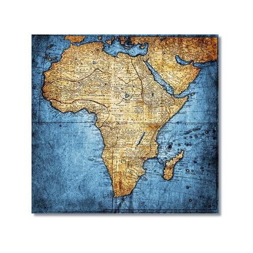 Tictac Afrika Haritası Kanvas Tablo - 60X60 Cm