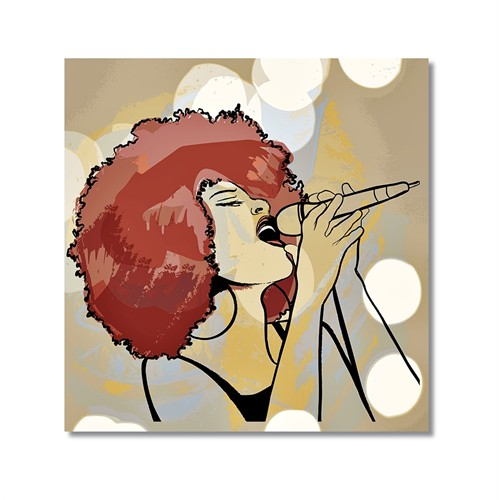 Tictac Jazz Solist Kanvas Tablo - 50X50 Cm