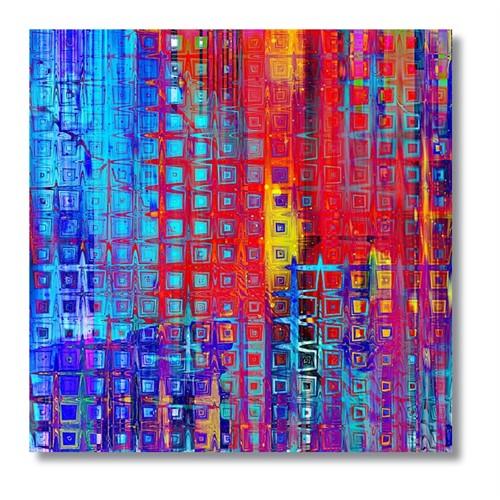 Tictac Renkler Kanvas Tablo - 70X70 Cm