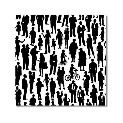 Tictac İnsanlar Kanvas Tablo - 60X60 Cm