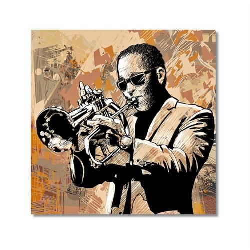 Tictac Jazz Müzisyenleri 2 Kanvas Tablo - 60X60 Cm