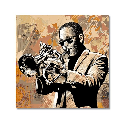 Tictac Jazz Müzisyenleri 2 Kanvas Tablo - 50X50 Cm