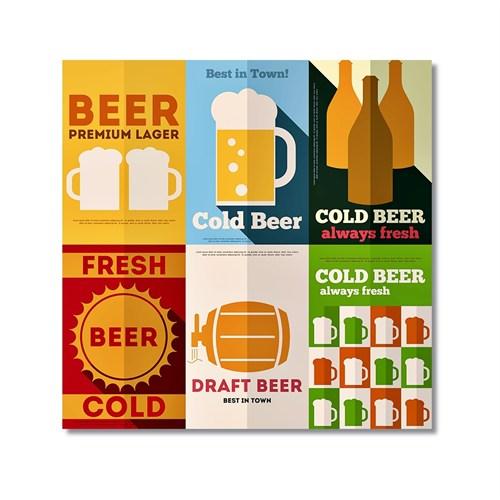 Tictac Beer Kanvas Tablo - 60X60 Cm