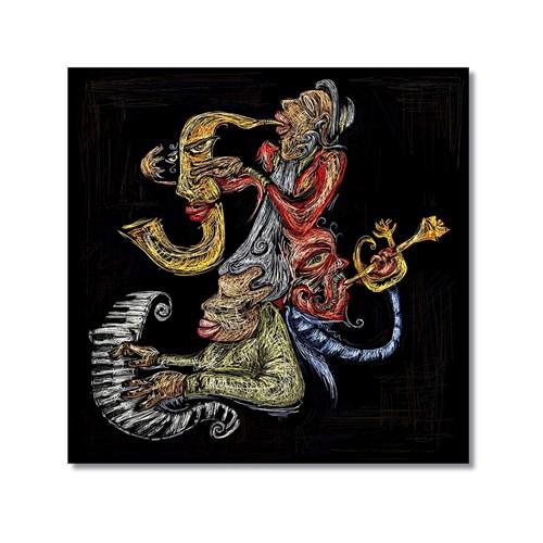 Tictac Jazz Müzisyenleri 3 Kanvas Tablo - 50X50 Cm