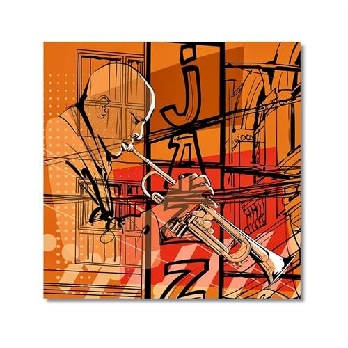 Tictac Jazz Müzisyenleri 4 Kanvas Tablo - 60X60 Cm